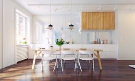 нутряная кухня самомоднейшая Стоковое Фото