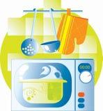 нутряная микроволна кухни Стоковые Фотографии RF