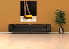 нутряная просторная квартира самомоднейшая Стоковое Фото