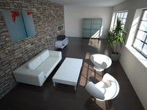 нутряная просторная квартира самомоднейшая Стоковые Изображения RF