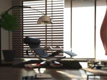нутряная самомоднейшая комната релаксации Стоковые Фотографии RF