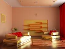 нутряная самомоднейшая комната Стоковая Фотография