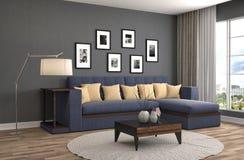 нутряная софа иллюстрация 3d Стоковые Изображения