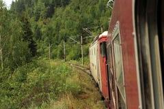 нутряное быстро проходя перемещение поезда Стоковая Фотография