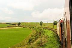 нутряное быстро проходя перемещение поезда Стоковая Фотография RF