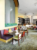 Нутряной, дорогий ресторан в курорте стоковая фотография