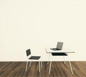 нутряной минимальный самомоднейший офис Стоковое Фото