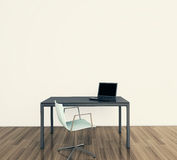 нутряной минимальный самомоднейший офис Стоковые Изображения