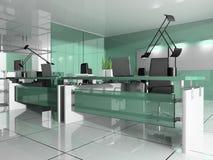 нутряной самомоднейший офис иллюстрация штока