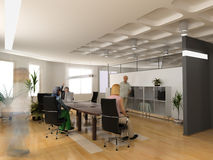 нутряной самомоднейший офис стоковое изображение rf