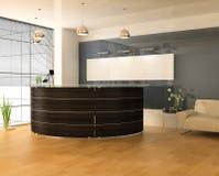 нутряной самомоднейший офис стоковое изображение