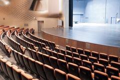 нутряной самомоднейший театр Стоковые Изображения RF