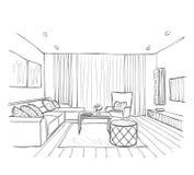 нутряной эскиз красивейшая комната Стоковое Изображение RF