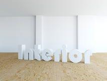 Нутряно - пустая комната стоковая фотография rf