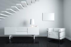 нутряные лестницы белые Стоковые Фото