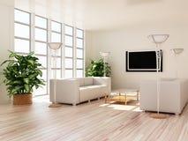 нутряные самомоднейшие комнаты Стоковые Изображения RF