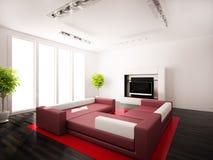 нутряные самомоднейшие комнаты Стоковая Фотография RF