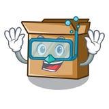 Ныряя картон в форме характера a иллюстрация штока