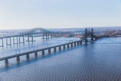 Нью-Джерси наводит антенну стоковая фотография