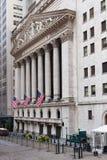 Нью-йоркская биржа в Манхаттане Стоковая Фотография