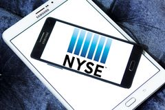 Нью-йоркская биржа, логотип NYSE Стоковое Изображение