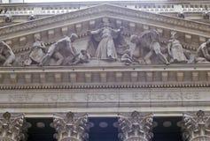 Нью-йоркская биржа, Уолл-Стрит, Нью-Йорк, NY Стоковое Фото