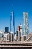 Нью-Йорк, более низкое Манхаттан и один всемирный торговый центр Стоковые Изображения