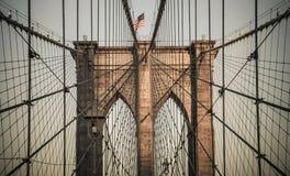 Нью-Йорк - Бруклинский мост Стоковое Фото