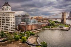 Нью-Йорк, Бруклинский мост Стоковая Фотография RF
