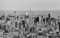 Нью-Йорк - взгляд неба Манхаттана центра города Стоковая Фотография
