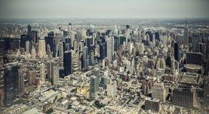 Нью-Йорк - взгляд неба Манхаттана центра города Стоковая Фотография RF