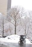 Нью-Йорк во время сезона зимы Стоковые Изображения