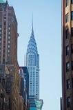 Нью-Йорк: горизонт и Крайслер строя 14-ого сентября 2014 Стоковое фото RF