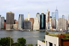 Нью-Йорк, горизонт Манхаттана стоковое фото