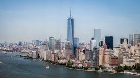 Нью-Йорк - городской взгляд неба Манхаттана Стоковая Фотография RF