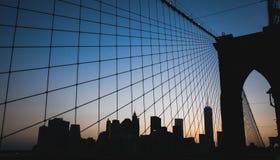 Нью-Йорк - городской горизонт Манхаттана Стоковая Фотография