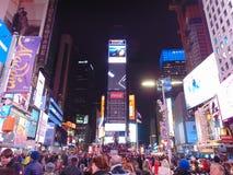 Нью-Йорк, квадрат времени Стоковые Изображения