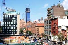 Нью-Йорк, ландшафт highline стоковое изображение rf