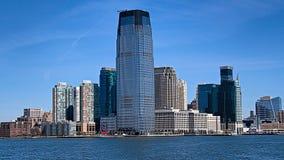 Нью-Йорк, Манхаттан, США Увиденный от острова свободы стоковая фотография rf