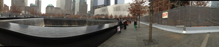Нью-Йорк 9/11 мемориалов Стоковое Изображение RF