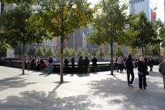 Нью-Йорк 911 мемориальный бассейн музея Стоковые Изображения