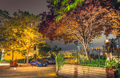 Нью-Йорк на ноче, Бруклин Стоковое Фото