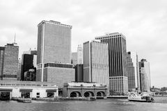 Нью-Йорк на черной белизне n Стоковые Изображения