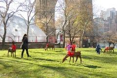 Нью-Йорк на Christmastime стоковая фотография