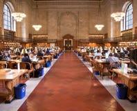 Внутренняя известная публичная библиотека нью-йорк Стоковое Изображение