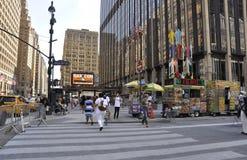 Нью-Йорк, 2-ое июля: Сад квадрата Madison Манхаттана от Нью-Йорка в Соединенных Штатах Стоковое Изображение