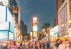 Нью-Йорк - 5-ое сентября 2010: Таймс площадь 5-ого сентября в новой Стоковое Изображение RF