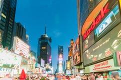 Нью-Йорк - 5-ое сентября 2010: Таймс площадь 5-ого сентября в новой Стоковые Изображения RF