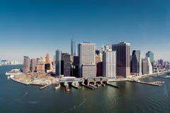 Нью-Йорк от воздуха Стоковые Изображения