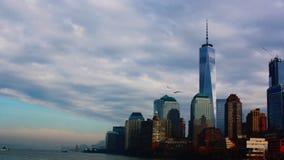 Нью-Йорк от парома стоковая фотография